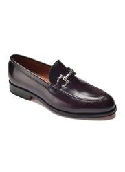 Bordowe buty mokasyny a.leyva 9