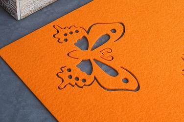Mata filcowa prostokątna 43x29 cm pomarańczowa
