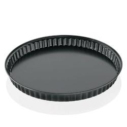 Kuchenprofi - pâtissier - forma do tarty, ⌀ 28,00 cm, czarna - czarny