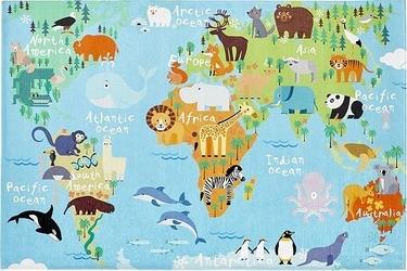 Dywan torino kids mapa świata 80 x 120 cm
