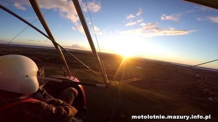 Lot motolotnią dla dwojga - mazury - 10 minut