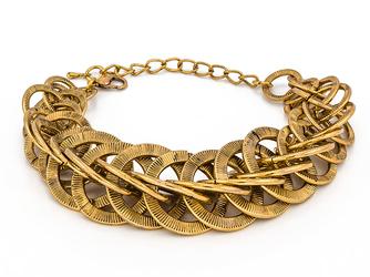 Bransoletka antique gold - GOLD