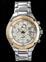 Męski zegarek PERFECT GETZ zp123d - silverrosegold