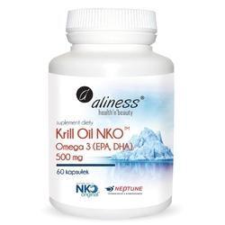 KRILL OIL NKO Omega 3 olej z kryla z Astaksantyną 500 mg 60 kapsułek
