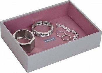 Pudełko na biżuterię open classic Stackers szaro-różowe