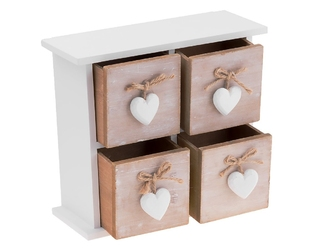 Prowansalska szkatułka retro drewno dedykacja