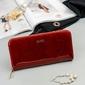 Skórzany portfel damski lakierowany czerwony rfid rovicky - czerwony