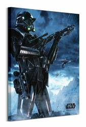 Star Wars Rogue One Death Trooper Rain - obraz na płótnie
