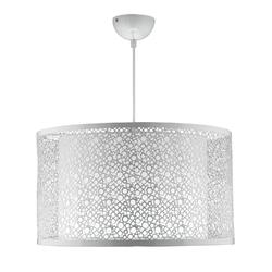Lampa wisząca ażurowa, metalowa z wewnętrznym abażurem madras candellux 31-92727
