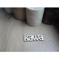 Drewniany napis kawa 6,5x3 cm - KAWA