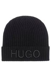 Czapka zimowa hugo boss unisex-x czarna- 50441405
