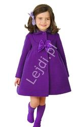 Płaszczyk dla dziewczynki wiosenno - jesienny dziecięcy - kolor fioletowy