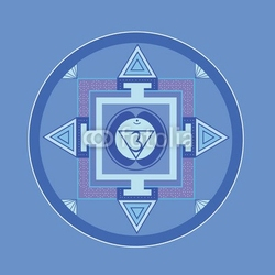 Obraz na płótnie canvas czteroczęściowy tetraptyk hala-czakra mandala