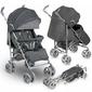 Lionelo irma grey lekki wózek spacerowy + folia + moskitiera + ocieplacz