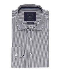 Elegancka koszula profuomo originale w granatowe prążki 38