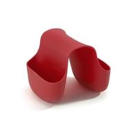 Kieszeń na gąbki do mycia - caddy - czerwona - czerwony