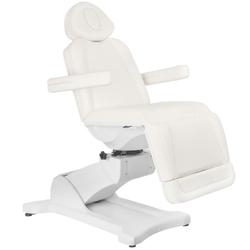 Fotel kosmetyczny elektr. azzurro 869a obrotowy 4 siln. biały