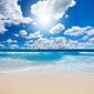 Tapeta ścienna wspaniały krajobraz plaży