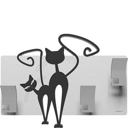 Wieszak ścienny Cats CalleaDesign czarny - biały 53-13-3-5