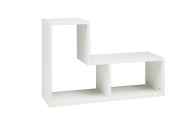 Woood :: Regał modułowy Tetris biały - czarny || biały
