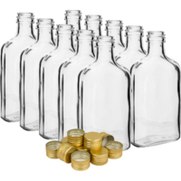 Butelki na nalewki 200 ml 10 szt. z zakrętkami