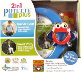 Zestaw Potette Plus 2w1 - książeczka + zabawka, niebieski