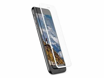 Baseus szkło silk iPhone 6 6s 7 8 z elastyczną ramką Białe - Biały