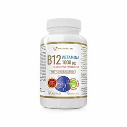 Progress Labs Vitamin B12 1000mcg + Prebiotyk 120caps