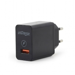 Gembird Ładowarka sieciowa USB Qiuck Charge 3.0 2.1A czarna
