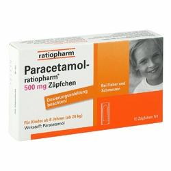 Paracetamol ratiopharm 500 mg Kindersuppos.