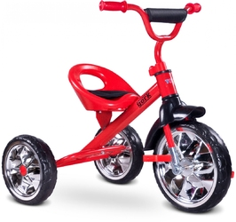 TOYZ YORK Czerwony Rowerek trójkołowy + PUZZLE