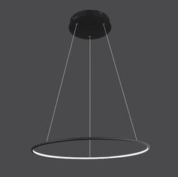 Altavola Design :: Wisząca Lampa Ledowe Okręgi No.1 czarna in 4k - czarny