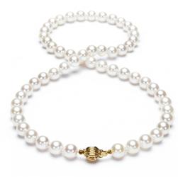 naszyjnik złoto 58514k i naturalne perły