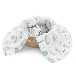 ColorStories - Otulacz bambusowo-muślinowy Teddy Bear L 100x120 cm