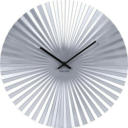Zegar ścienny Sensu srebrny 40 cm