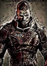 Legends of Bedlam - Shepard, Mass Effect - plakat Wymiar do wyboru: 61x91,5 cm