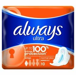 Always Ultra Normal Plus, podpaski higieniczne ze skrzydełkami, 10 sztuk