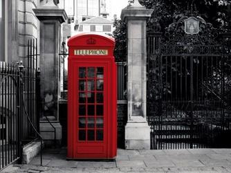 Czerwona Budka Telefoniczna - Londyn - fototapeta