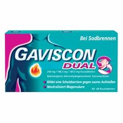 Gaviscon Dual 250mg106,5mg187,5mg Kautabletten