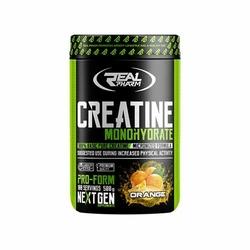 Real Pharm Creatine Monohydrate 500 g Najlepszy Monohydrat Kreatyny Wysyłka 24h - Grapefruit