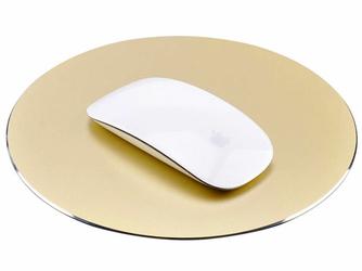 Alogy aluminiowa podkładka pod mysz apple magic mouse okrągła złota - Złoty