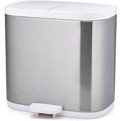 Kosz łazienkowy podwójny Split Joseph Joseph stalowo-biały 70520