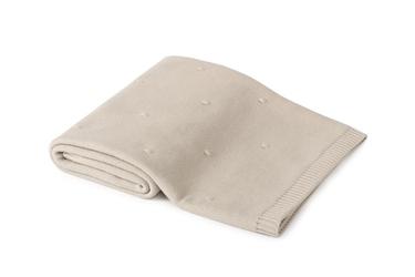 Poofi Kocyk bawełniany – popcorn - piaskowy