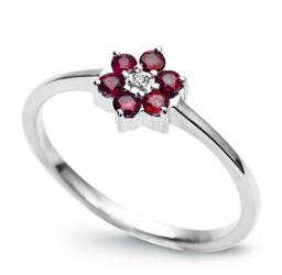 pierścionek złoty diament rubinyroz.10