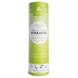BEN and ANNA Naturalny dezodorant na bazie sody PERSIAN LIME w sztyfcie, kartonowy