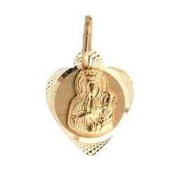 medalik złoty MARYJA W SERCU