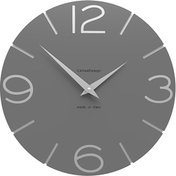 Zegar ścienny Smile CalleaDesign szary 10-005-3