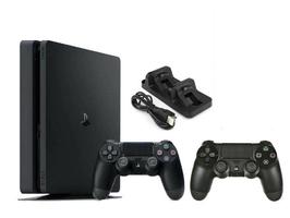 Konsola Sony PS4 1TB Slim + 2 Pady + Ładowarka