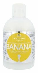 KALLOS COSMETICS Banana - nawilżający szampon do włosów suchych dla kobiet 1000ml