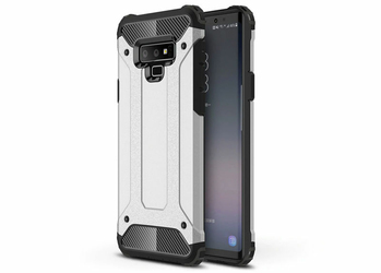 Etui Alogy Hard armor Samsung Galaxy Note 9 srebrne +Szkło